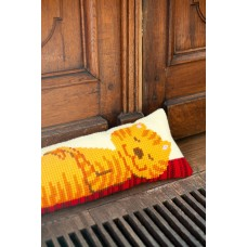 Cross Stitch Kit: Draught Excluder: Funny Cat