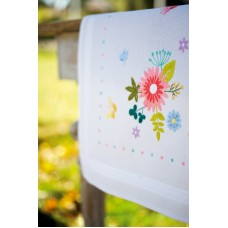 Counted Cross Stitch Kit: Table Runner: Spring Flowers & Butterflies