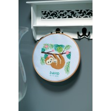 Counted Cross Stitch Kit: Sweet Sloth