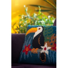 Counted Cross Stitch Kit: Cushion: Toucan