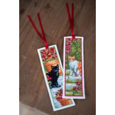 Counted Cross Stitch Kit: Bookmark: Cats: Set of 2