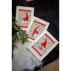 Counted Cross Stitch Kit: Greeting Cards: Christmas Gnomes: Set of 3