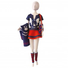 Couture Outfit Making Set: Tiny Mickey Red and Blue