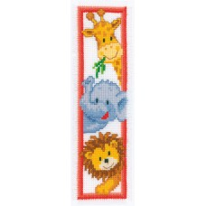 Counted Cross Stitch Kit: Bookmark: Zoo Animals