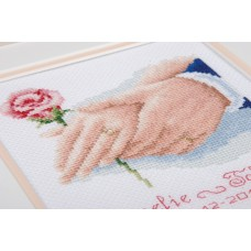 Counted Cross Stitch Kit: Wedding Record: Holding Hands