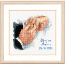 Counted Cross Stitch Kit: Wedding Record: With this Ring