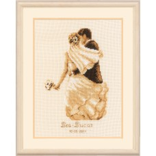 Counted Cross Stitch Kit: Wedding Record: Private Moment