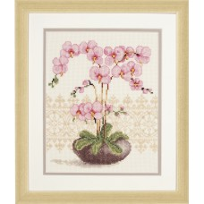 Counted Cross Stitch Kit: Pink Orchid