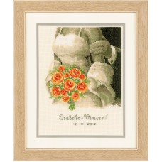 Counted Cross Stitch Kit: Wedding Record: The Bouquet