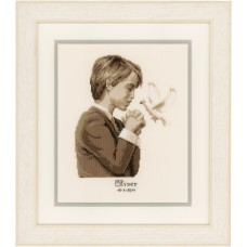 Counted Cross Stitch: Confirmation Boy