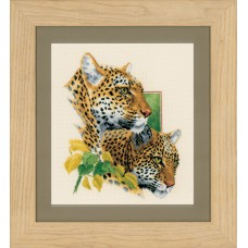 Counted Cross Stitch Kit: Leopard Duo