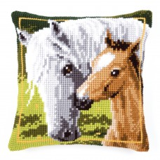 Cross Stitch Kit: Cushion: Mare and Foal