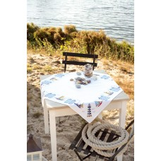 Counted Cross Stitch Kit: Tablecloth: Beach
