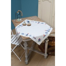 Counted Cross Stitch Kit: Tablecloth: Maritime Design