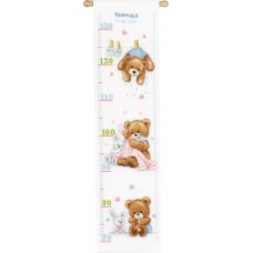 Counted Cross Stitch: Height Chart: Lovely Bears
