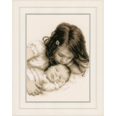 Counted Cross Stitch Kit: Baby and Sister