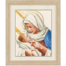 Counted Cross Stitch: Maria and Jesus