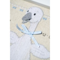 Counted Cross Stitch: Birth Record: Goose with Bow