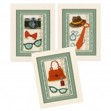 Counted Cross Stitch Kit: Vintage Accessories: Set of 3