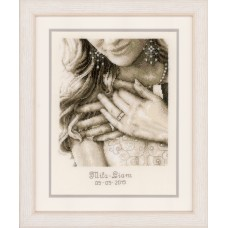 Counted Cross Stitch Kit: Wedding Record: Yes, I Do ...