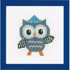 Counted Cross Stitch Kit: Owl in Hat
