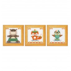 Counted Cross Stitch Kit: Cute Animals: Set of 3