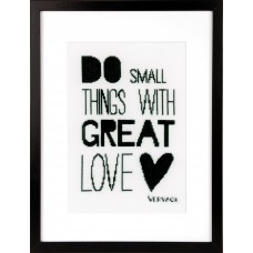Counted Cross Stitch Kit: Do Small Things
