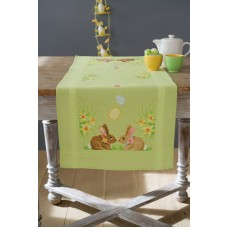 Counted Cross Stitch Kit: Runner: Easter Bunnies