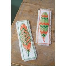 Counted Cross Stitch Kit: Bookmarks: Feathers (Set of 2)