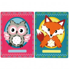 Embroidery Kit: Cards: Owl and Fox: Set of 2