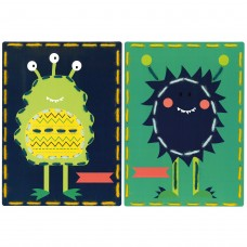 Embroidery Kit: Cards: Space Monsters: Set of 2