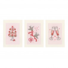 Counted Cross Stitch Kit: Cards: Wedding: Set of 3