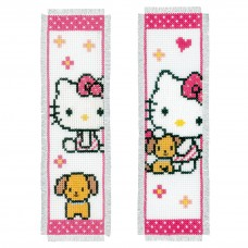 Counted Cross Stitch: Bookmark: Hello Kitty with Dog (Set of 2)