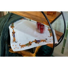 Counted Cross Stitch Kit: Tablecloth: Dachshunds