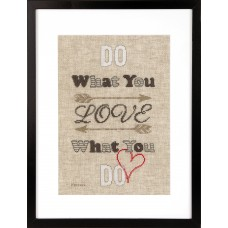 Counted Cross Stitch Kit: Do What You Love
