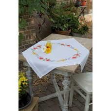 Embroidery Kit: Tablecloth: Flowers & Lavender