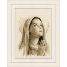 Counted Cross Stitch Kit: Hail Mary
