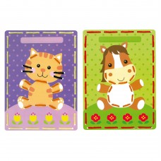 Embroidery Kit: Cards: Cat & Pony: Set of 2