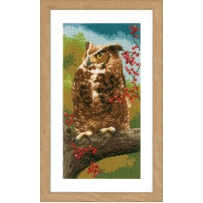 Counted Cross Stitch Kit: Owl in Autumn