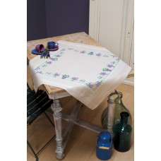 Counted Cross Stitch Kit: Tablecloth: Lavender