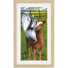 Counted Cross Stitch Kit: Horse & Foal
