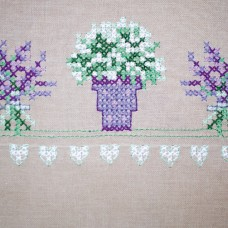 Counted Cross Stitch Kit: Runner: Lavender