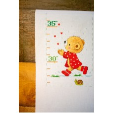 Counted Cross Stitch Kit: Height Chart: Under the Umbrella