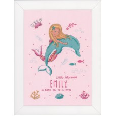 Counted Cross Stitch Kit: Little Mermaid & Dolphin