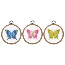 Embroidery Kit with Ring: Butterflies: Set of 3