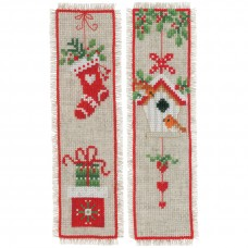 Counted Cross Stitch Kit: Bookmarks: Christmas Motif: Set of 2