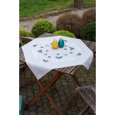 Embroidery Kit: Tablecloth: Butterfly Dance