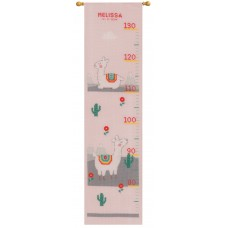 Counted Cross Stitch Kit: Height Chart: Lovely Llama