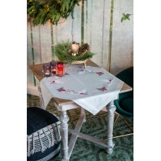Embroidery Kit: Tablecloth: Winter Christmas Landscape