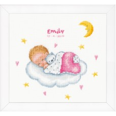 Counted Cross Stitch Kit: Sleeping Baby on Cloud